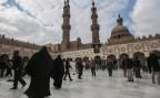 Der Innenhof der grossen Al Azhar Moschee in Kairo