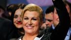 Kolinda Grabar Kitarovic, die neugewählte Präsidentin von Kroatien.