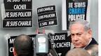Der israelische Premier Netanyahu beim Besuch des koscheren Supermarktes, in dem vier Personen jüdischen Glaubens ums Leben gekommen sind,