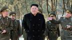 Der nordkoreanische Führer Kim Jong Un am 13. Januar auf Inspektionsreise. Nordkorea bietet via die Uno Hand zur Zusammenarbeit mit Südkorea.