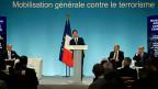 Bessere Waffen, mehr Geld, mehr Stellen bei den Behörden: Frankreich reagiert auf die Anschläge in ParisDer französische Premier Manuel Valls erläutert an einer Medienkonferenz die verstärkten Sicherheitsbemühungen.