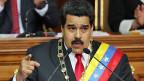 Venezuelas Präsident Nicolas Maduro bei seiner jahresbotschaft an die Bevölkerung.