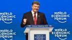 Der ukrainische Präsident Petro Poroschenko an der Podumsdiskussion «Die Zukunft der Ukraine» am WEF in Davos.