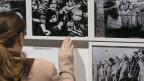 Bilder einer Ausstellung zum 70. Jahrestag der Befreiung des Konzentrationslagers Auschwitz am 27 Januar 2015. Mehr als 1,1 Millionen Menschen wurden vernichtet.