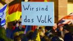 Demonstration der Pegida-Bewegung in Frankfurt am Main am 26.01.2015.