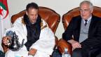 Die Lage in der heute grösstenteils von Marokko besetzten ehemals spanischen Westsahara, ist beunruhigend. Bild: Mohamed Khadad, Koordinator der Uno-Westsahara-Mission und der Uno-Friedensbeauftragte Christopher Ross.