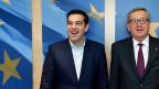 Der griechische Premier Alexis Tsipras und EU-Kommissionspräsident Jean-Claude Juncker in Brüssel.