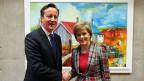Der britische Premier David Cameron und Schottlands Erste Ministerin Nicola Sturgeon. Vor über 100 Jahren waren irische Abgeordnete im britischen Unterhaus die Königsmacher. Nun soll diese Rolle den Schotten zufallen.