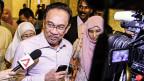 Anwar Ibrahim bei der Ankunft im Justizpalast von Putrajaya.