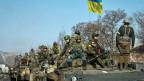 Soldaten der ukrainischen Armee in der Nähe von Debalzewe, am 12. Februar 2015.