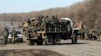 Die ukrainische Armee zieht ihr Truppen aus Debalzewe ab.