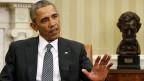 US-Präsident Barack Obama im Oval Office des Weissen Hauses. Er hat zur Konferenz gegen den Terror geladen.
