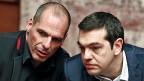 Ratlos: der griechische Finanzminister Yanis Veroufakis und sein Premier Alexis Tsipras.