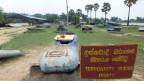 Museum in Mullaitivu, von der Armee eingerichtet, mit Waffe und Booten der LTTE.