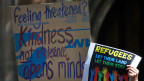 Protest gegen die australische Flüchtlingspolitik.
