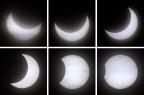 eine teilweise Sonnenfinsternis, aufgenommen am 4.11.2011 auf der Zugspitze