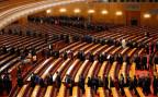 Nach Abschluss des Nationalen Volkskongresses verlassen die 3000 Delegierten den Plenarsaal