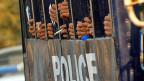 Verhaftete Studenten und Studenten nach Protesten am 11. März in der burmesischen Stadt Letpadan.