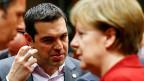 Am 19. März sassen Alexis Tsipras und Angela Merkel bereits einmal am gleichen Tisch.