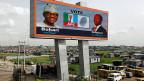 Wahlpropaganda in einem Slum der nigerianischen Hauptstadt lagos. Am Wochenende finden Wahlen statt.