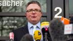 Staatsanwalt Christoph Kumpa in Düsseldorf vor den Medien.