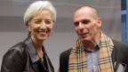 Der griechische Wirtschaftsminister Yanis Varoufakis garantiert gegenüber IWF-Chefin Christine Lagarde die Rückzahlung aller Kredite. (Archiv)