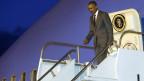 US-Präsident Barack Obama trifft in Panama ein.