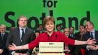 Schlagfertig, kompetent, präzise - und ziemlich gefährlich für etablierte Grossparteien: Die schottische Regierungschefin Nicola Sturgeon.