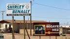 Wahlplakate in Shiprock in der Navajo Nation Reservation.