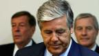 Aufsehenerregender Prozess in München:  Fünf ehemaligen und aktuellen Top-Managern der Deutschen Bank drohen hohe Haftstrafen. Im Zentrum des Bildes: der Schweizer Joe Ackermann.
