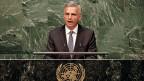 Bundesrat Didier Burkhalter am 27. April vor der Uno-Generalversammlung in New York. Der Atomsperrvertrag soll verhindern, dass immer mehr Länder Atombomben bauen. Und jene, die welche haben, sollen atomar abrüsten.