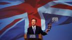 Premier David Cameron an einer Wahlkampfveranstaltung in Swindon. Wenn er das versprochene EU-Referendum durchführt, könnten sich die Liberalen einer Koalition verweigern.