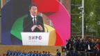 Matteo Renzi an der Eröffnungsrede am 1. Mai in Mailand.