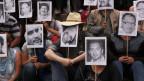 Mexikanische Journalisten erinnern an getötete Kollegen.