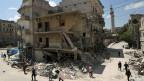 Zerstörtes Gebäude in der syrischen Stadt Aleppo. Wer profitiert von diesem Krieg?