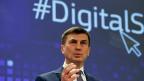 Der zuständige Mann für das Projekt «Digital Single Market» der EU-Kommission - bei einem Auftritt am 25. März 2015.