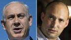 Benjamin Netanyahu und Naftali Bennet von der Partei «Jüdisches Heim».