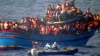 Der Uno-Sicherheitsrat prüft Vorschläge zur Bekämpfung des Flüchtlingsproblems im Mittelmeerraum.