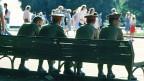 Rekruten im Gorki-Park in Moskau, Anfang 1990er-Jahre.