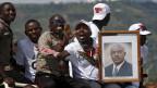 Unterstützer des Präsidenten Pierre Nkurunziza in Burundis Hauptstadt Bujumbura.