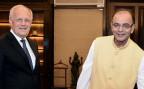Bundesrat Johann Schneider-Ammann mit dem indischen Finanzminister Arun Jaitley