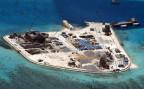 Das Mabini-Riff im südchinesischen Meer, das von China aufgeschüttet wird