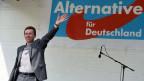 Bernd Lucke von der AfD an einer Wahlveranstaltung.