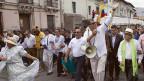 Rafael Correa lässt sich bejubeln - an einem Marsch zum 1. Mai in der equadorianischen Hauptstadt Quito.