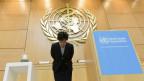 Die Generalsekretärin der WHO, Margret Chan,  während der Eröffnung der 68. Weltgesundheitsversammlung in Genf