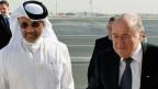 Mohammed bin Hammam und Fifa-Präsident Blatter im Dezember 2010 in Doha, der Hauptstadt von Katar.