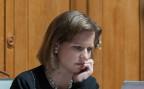 Nationalrats-Vizepräsidentin Christa Markwalder während einer Parlamentsdebatte