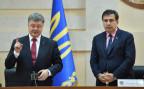 Der ukrainische Präsident Poroschenko stellt Georgiens Ex-Präsident Saakaschwili als neuer Gouverneur von Odessa vor