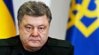 Der ukrainische Präsident Petro Poroschenko gab sich bestimmt, aber auch selbstkritisch. Nein, er sei mit den eigenen Arbeitsresultaten noch nicht zufrieden, meinte er in seiner Rede.