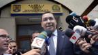 Rumäniens Premier Victor Ponta nimmt Stellung zu den Fragen betr. der Korruptionsvorwürfe in Bukarest am 5. Juni 2015.
